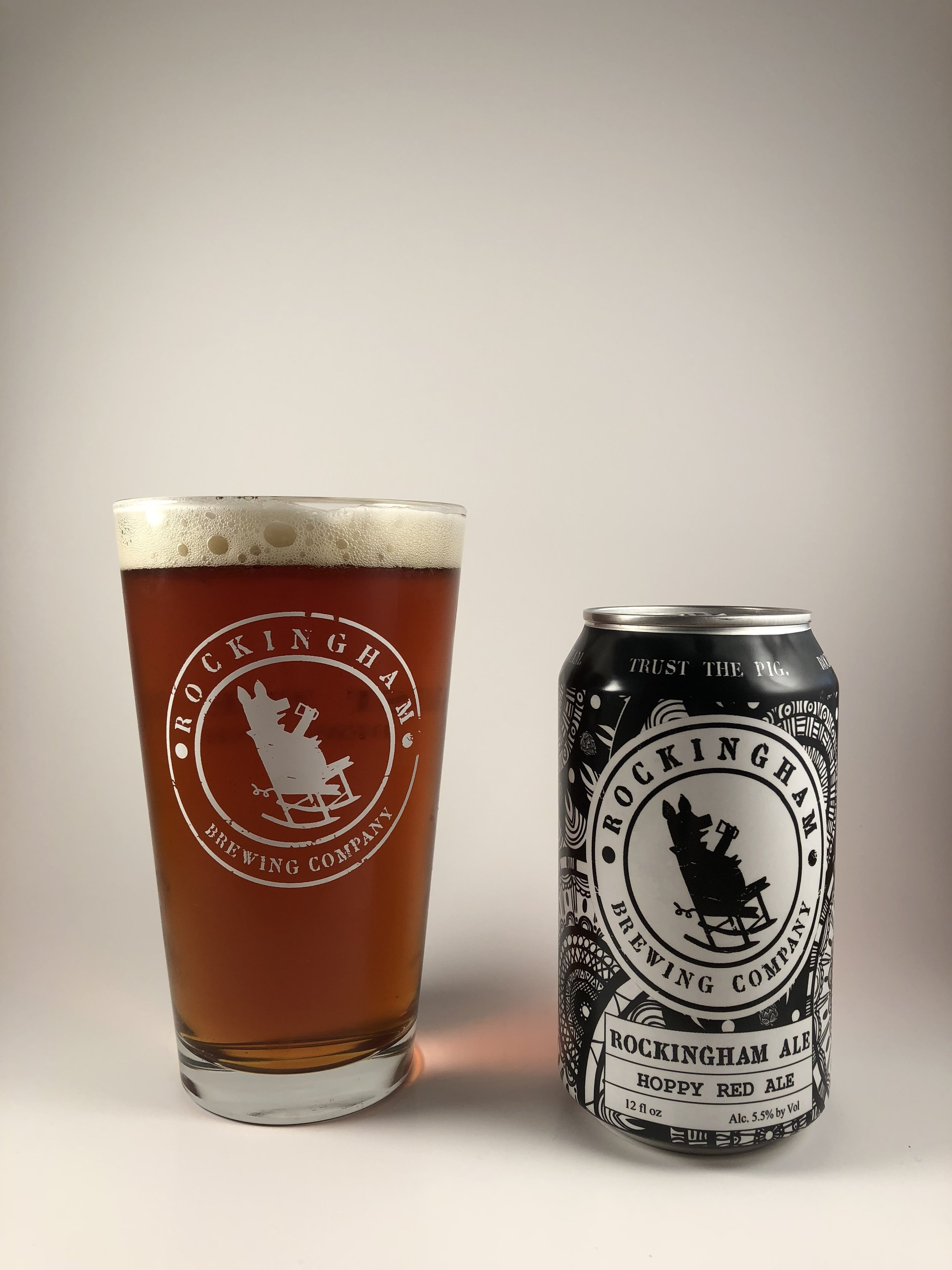 Rockingham Ale  Hoppy Red Ale 5.5% ABV Caramel with notes of pine and citrus