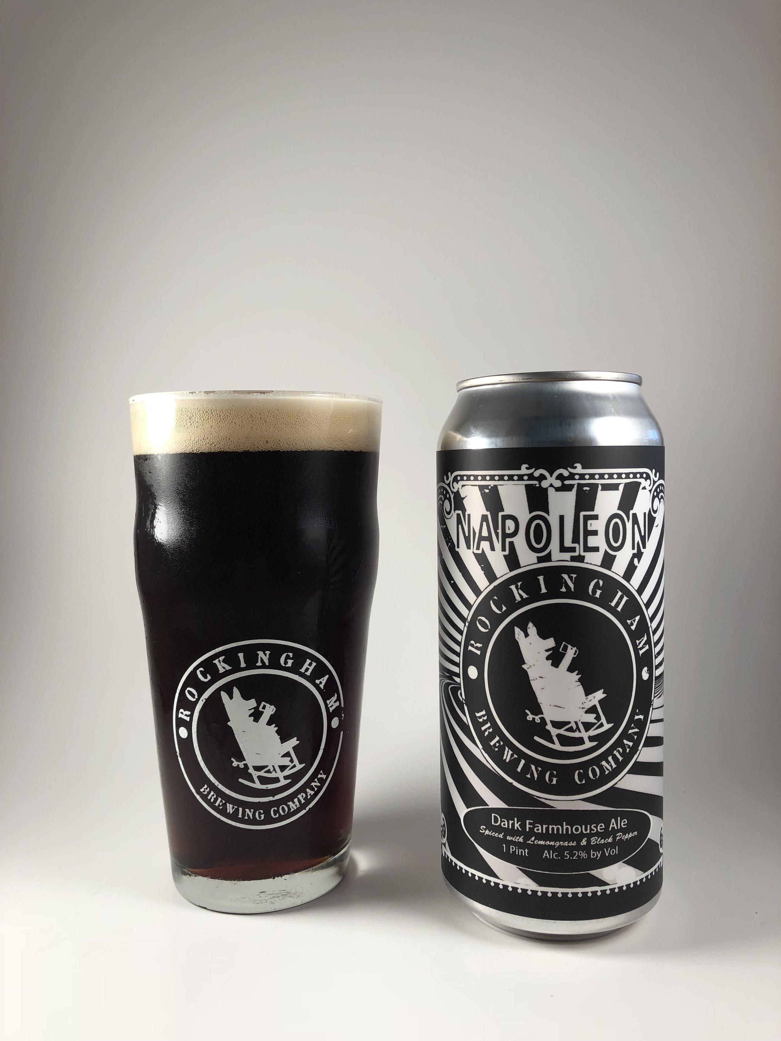 Napoleon  Dark Farmhouse Ale 5.2% ABV Mildly spiced with lemongrass & black pepper