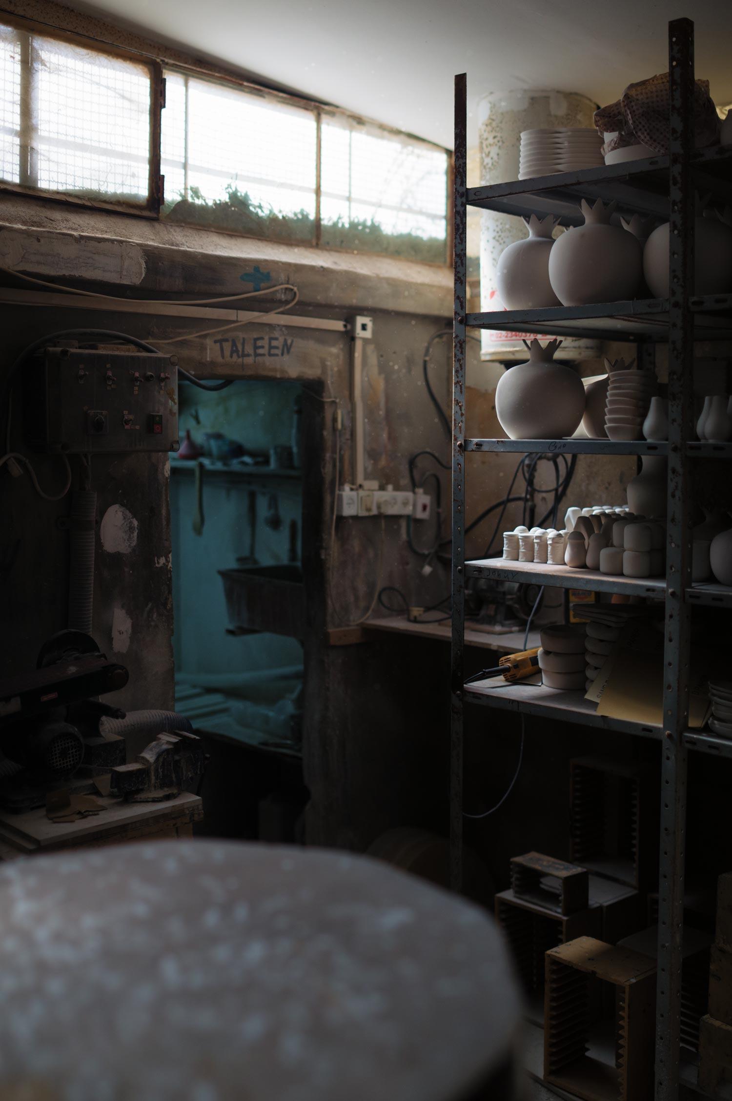 The Armenian potter's workshop.