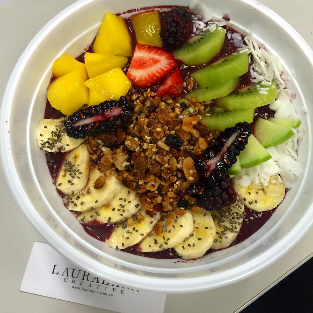 Acai bowl! Reminds me of Rio! #notquiterio #breakfast #acai