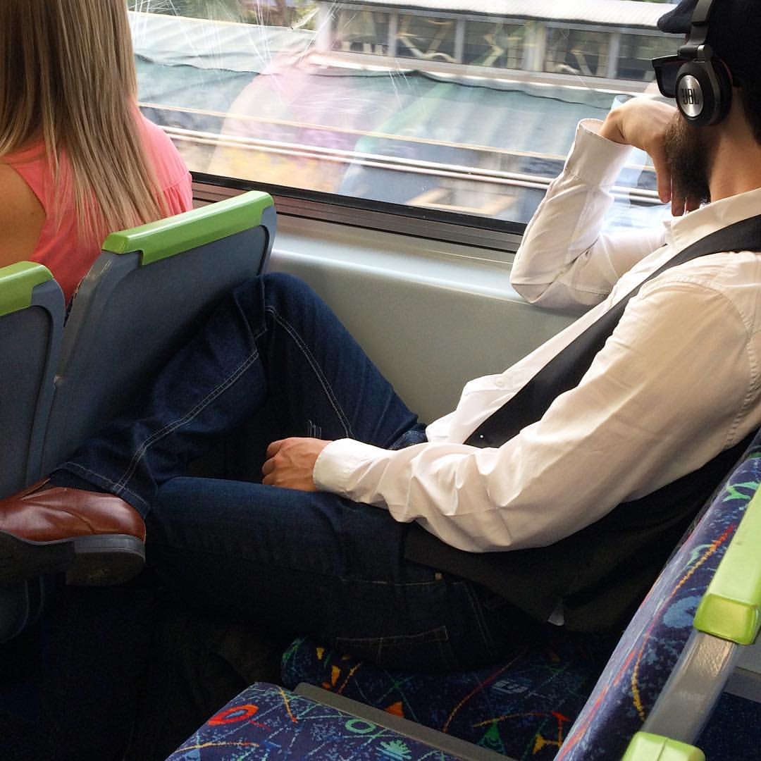 Stylin with his pristine denim and flat cap! #melbourne #fashiontraining #getcreative