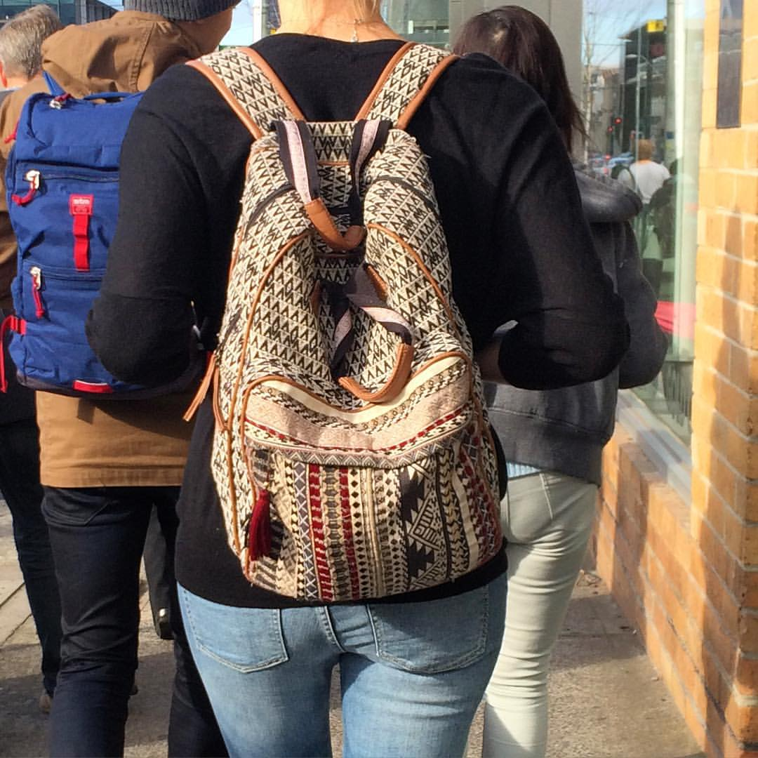 Great embroidered back pack! #fashiontraining #melbourne #getcreative
