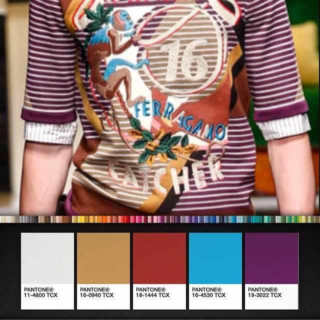 Be inspired by Salvatore Ferragamo's colour palette Spring 2016 #getcreative #inspire #salvatoreferragamo #menswearspring2016 👕👖👟