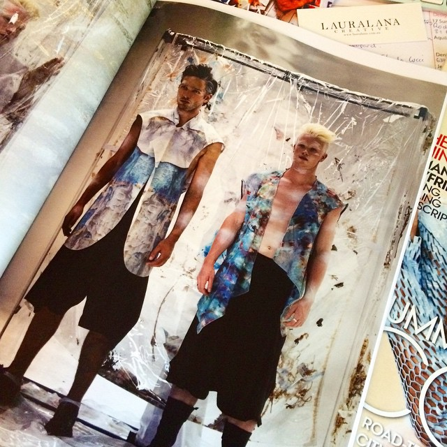 Just checking out SS2015/16 collection EXISTENCE by the very talented and super lovely @vincentlistudio whom I had the pleasure of meeting at #MENSKE last Saturday. #australiandesign #menswear