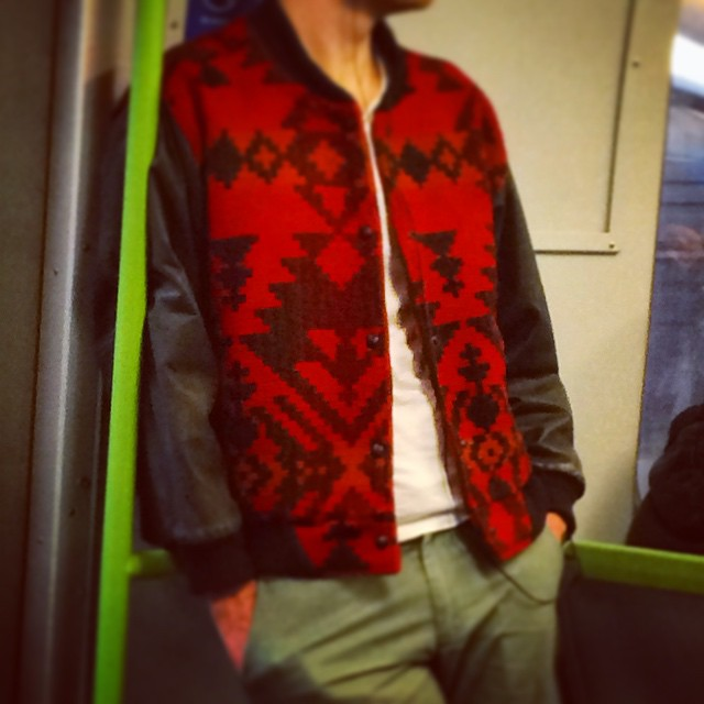 Great Bomber jacket for a Monday morning commute! #fashiontraining #inspire #melbourne