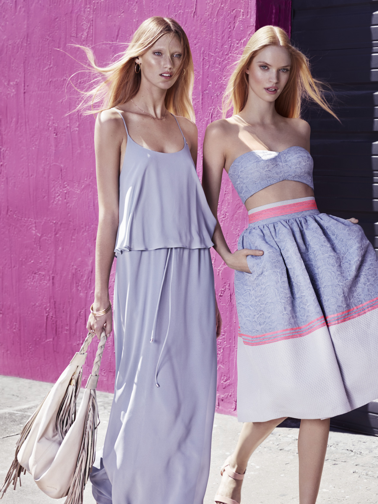 wgsn :   We love this pretty lilac and pink combo from the Kocca S/S 15 collection