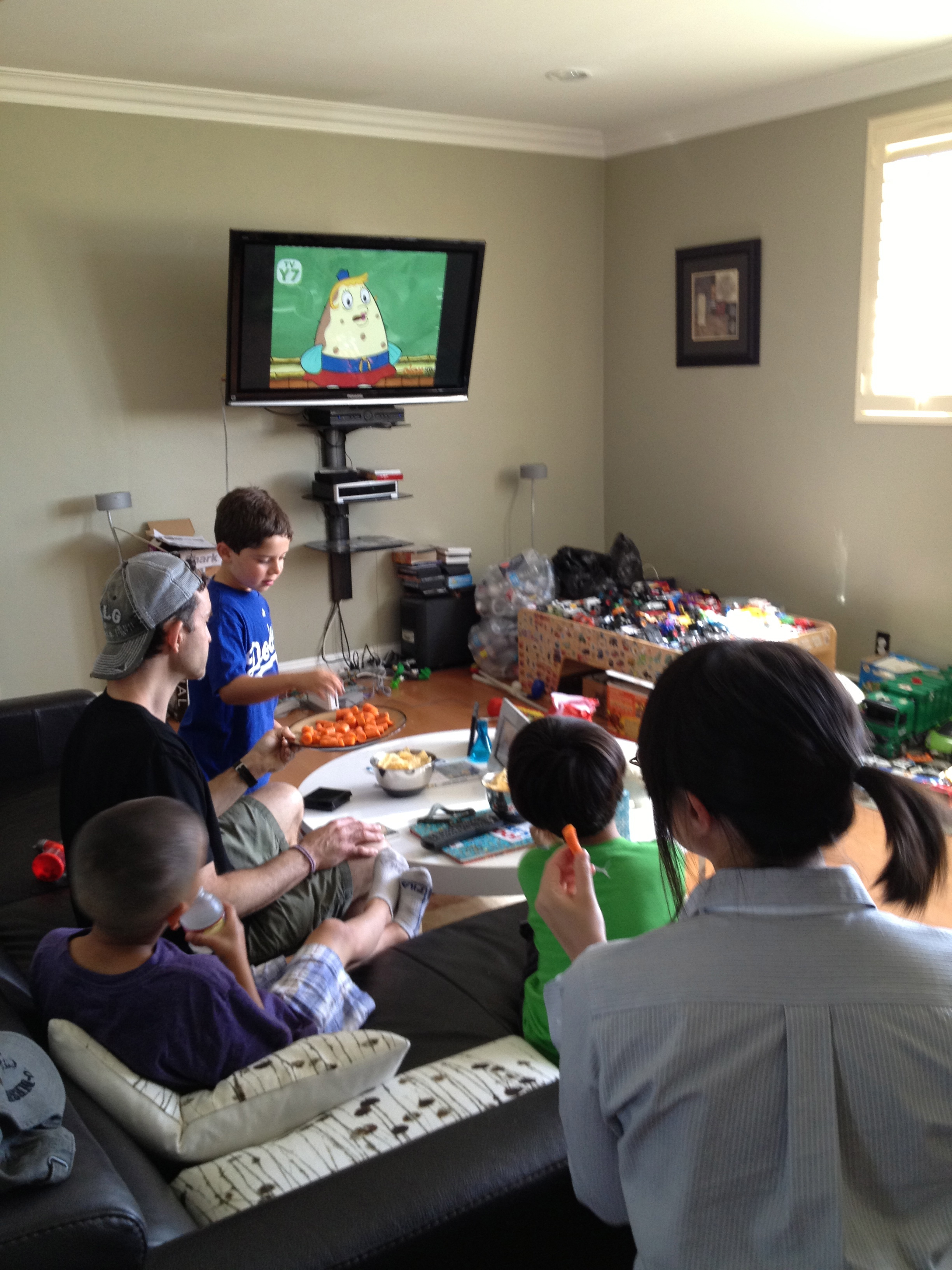 After running a diary study, we followed up with the participants and watched TV with them.