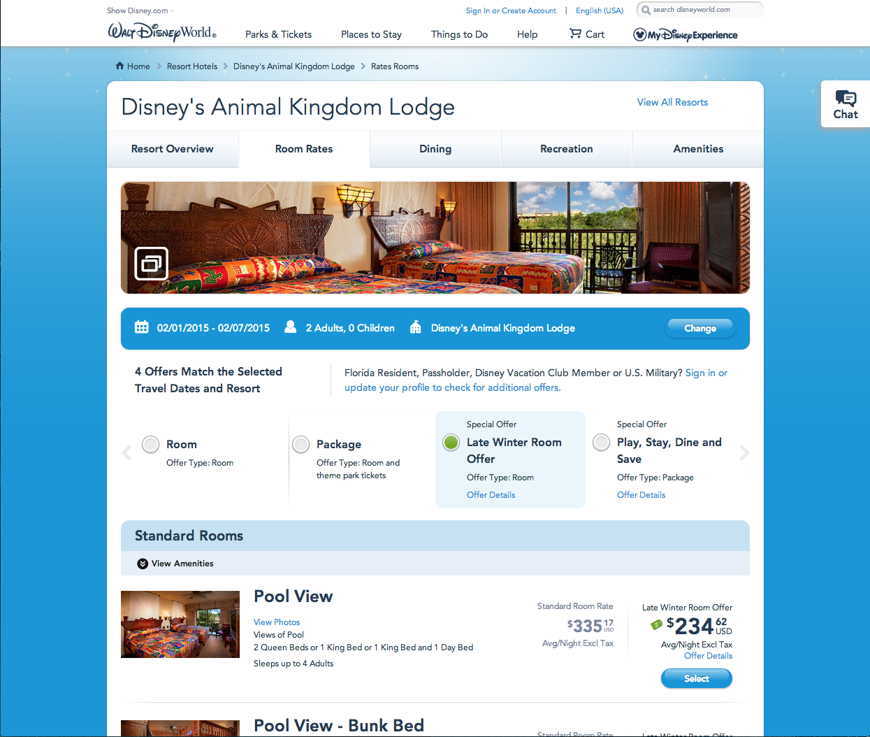 The rate carousel enables guests to easily compare all their options in one place.