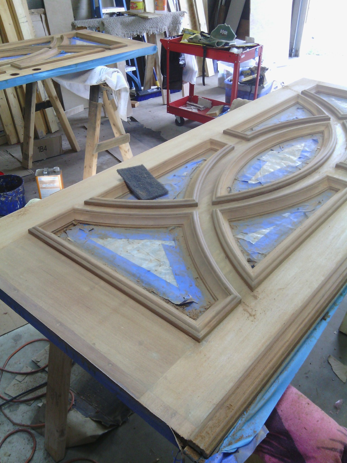 front-door-wood-wooden-restaining-old-restore-refinish