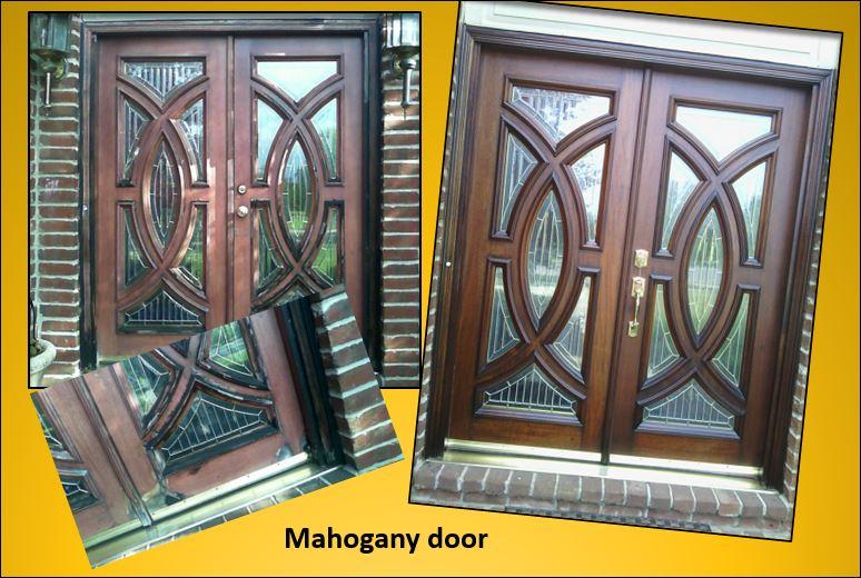 Pelican Point mahogany entry door