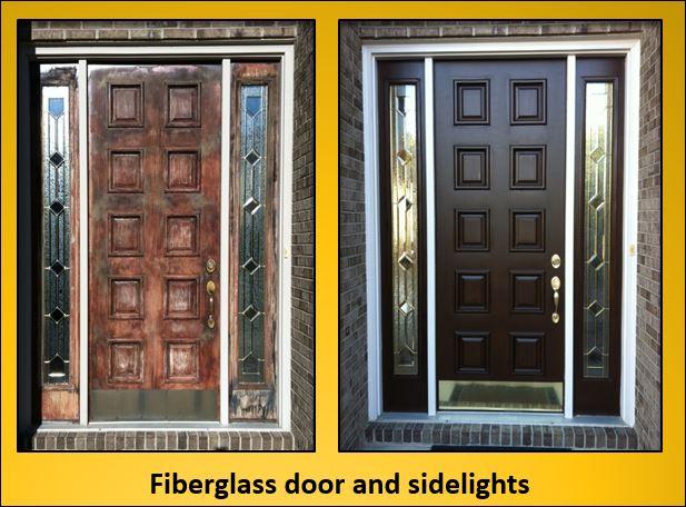 Pinckney fiberglass door