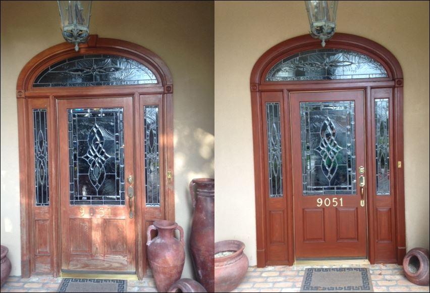 Wood door in Baton Rouge restored