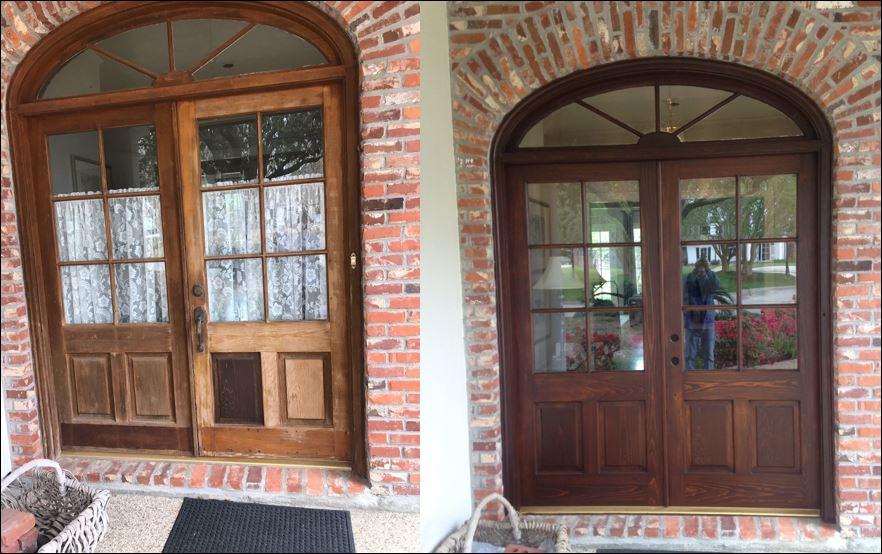 Baton Rouge front door refinished