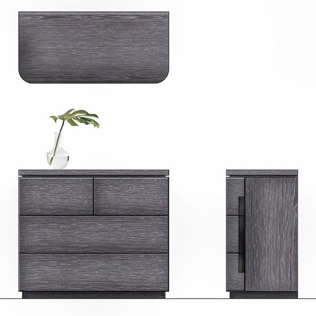 Cerused oak and metal reveal dresser for Restoration Hardware Teen's industrial product line.