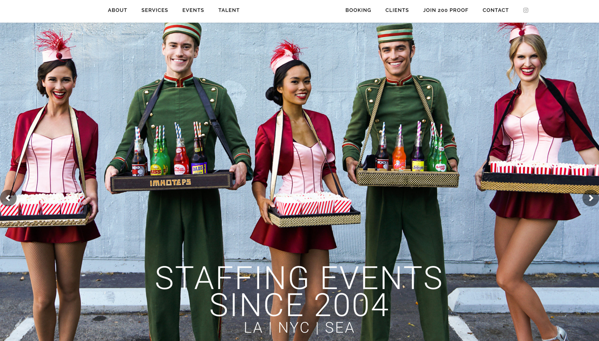 200 Proof Staffing Company Los Angeles Website  http://200proofstaffing.com/