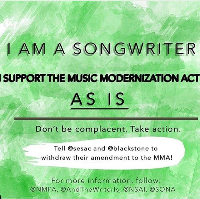 Praying for the future of songwriters and the whole music industry. 🙏  Please withdraw your amendment. @sesac @blackstone #musicmodernizationact