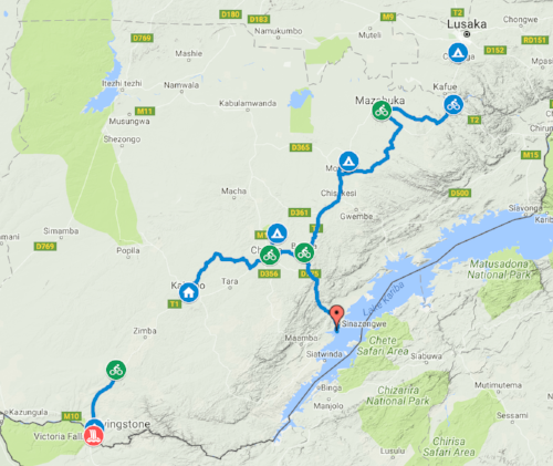 Starting in Zambia's capital, Lusaka, riders will ride 325+ miles through rural and urban areas of Zambia, camping along the way.