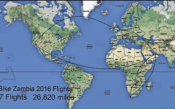 Over 26,000 miles, 58 hours on 7 flights and god only knows how many airline meals and movies.