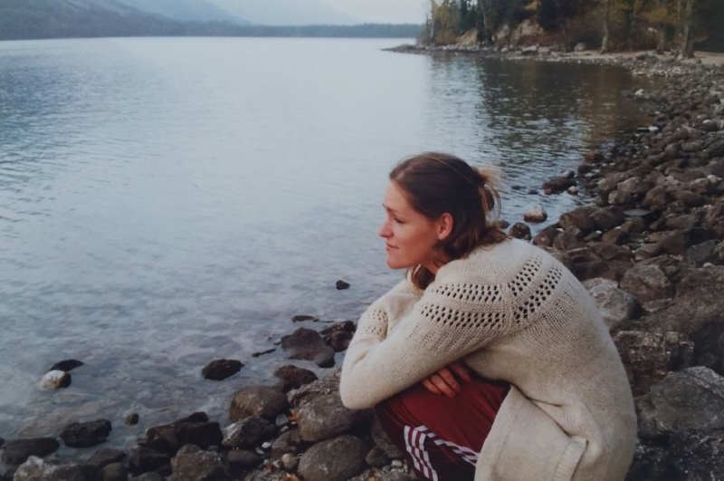 September 1998...At Jenny Lake in Wyoming on my way to Masters Commission.