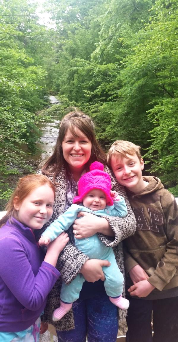 From Left: Evie June, Mommy,Shiloh Rose &Berenger David  ~Beavers Bend State Park,  April 2017