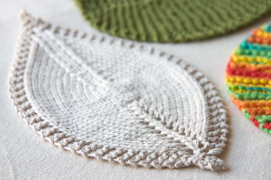 These  Leafy Washcloths  are perfect for  Blue Sky Alpacas Worsted Cotton !