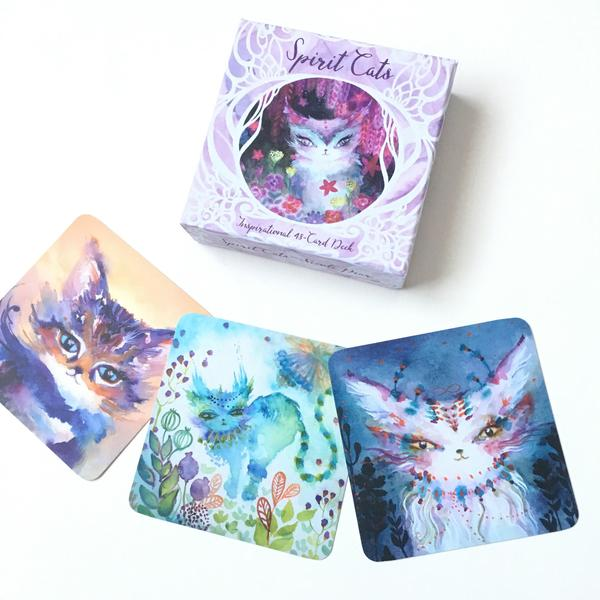 Spirit Cats Oracle Deck, because it's the cutest!  By artist Nicole Piar.