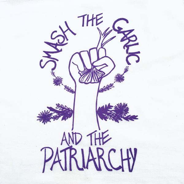 An awesome  tea towe l or  tote bag , because what's witchier than fighting the patriarchy?