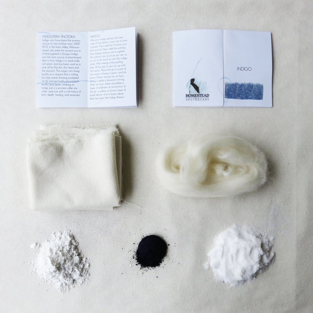 Indigo dye kit with instructions - dye yarn or fabric!