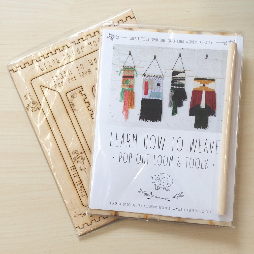 Pop out loom and instruction kit, for tapestry weaving!