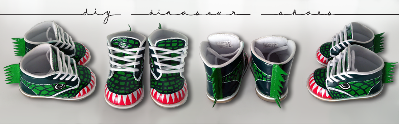 FOLLOW THESE STEPS, AND THESE CUSTOM DINOSAUR SHOES CAN BE YOURS!