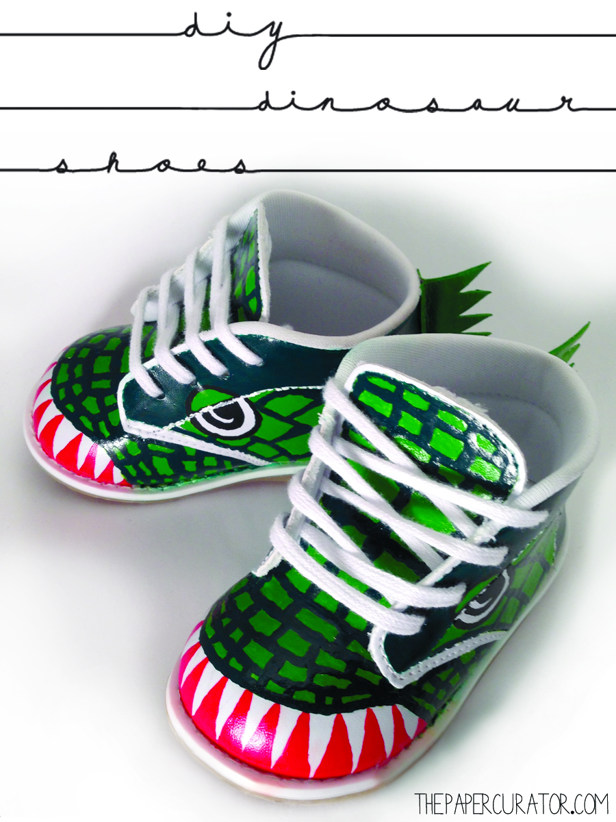 DIY DINOSAUR SHOES   THE PAPER CURATOR
