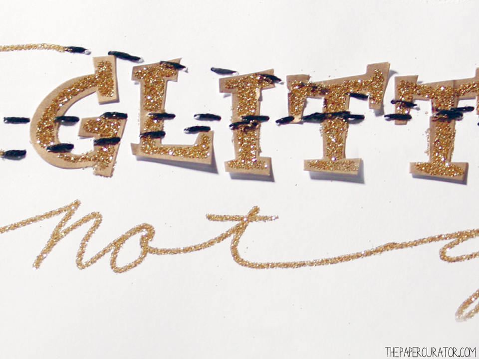 TITLE DETAIL | 'ALL THAT GLITTERS' | THE PAPER CURATOR