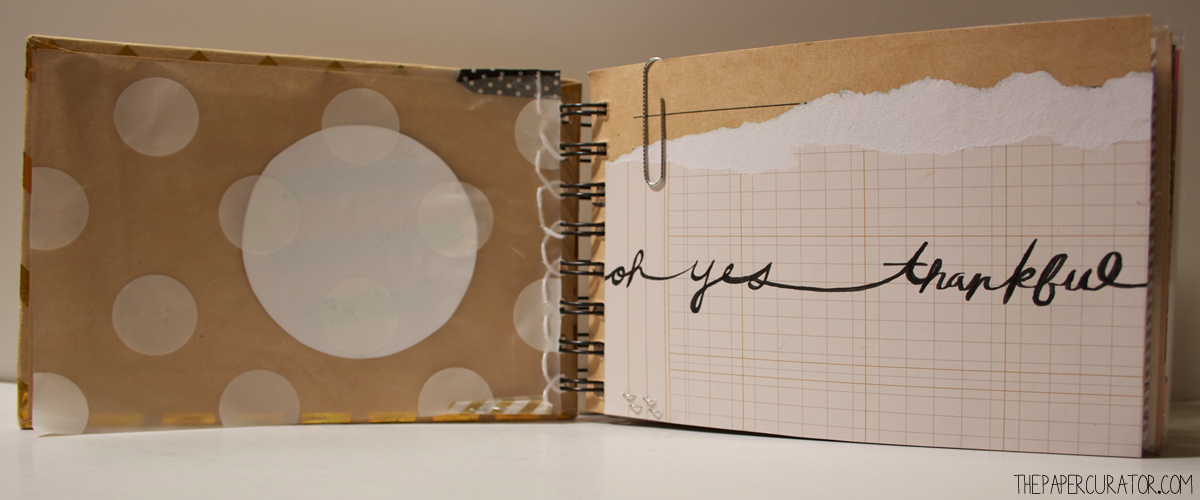 OPENING PAGE 'OH YES! THANKFUL' MINI ALBUM | THE PAPER CURATOR