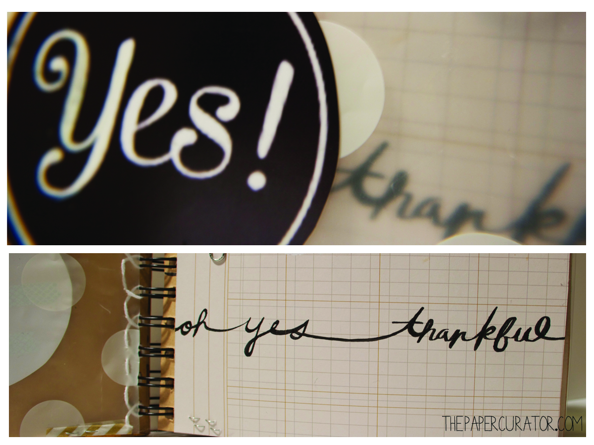 DETAILS OF THEOPENING PAGE 'OH YES! THANKFUL' MINI ALBUM | THE PAPER CURATOR
