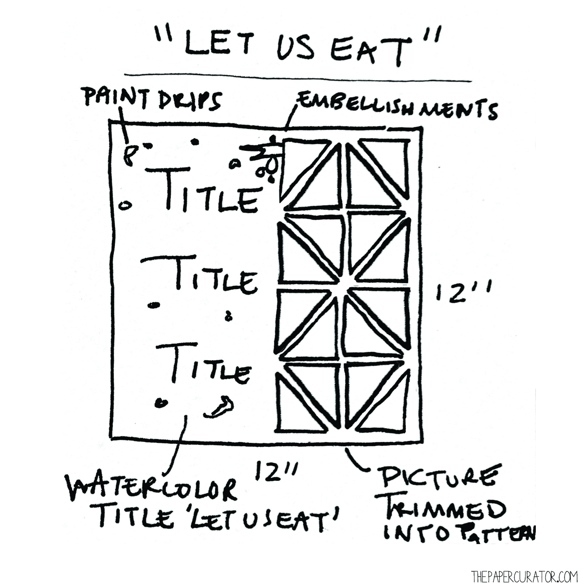 'LET US EAT' SKETCH FOR SUNDAY SKETCH SERIES | THE PAPER CURATOR
