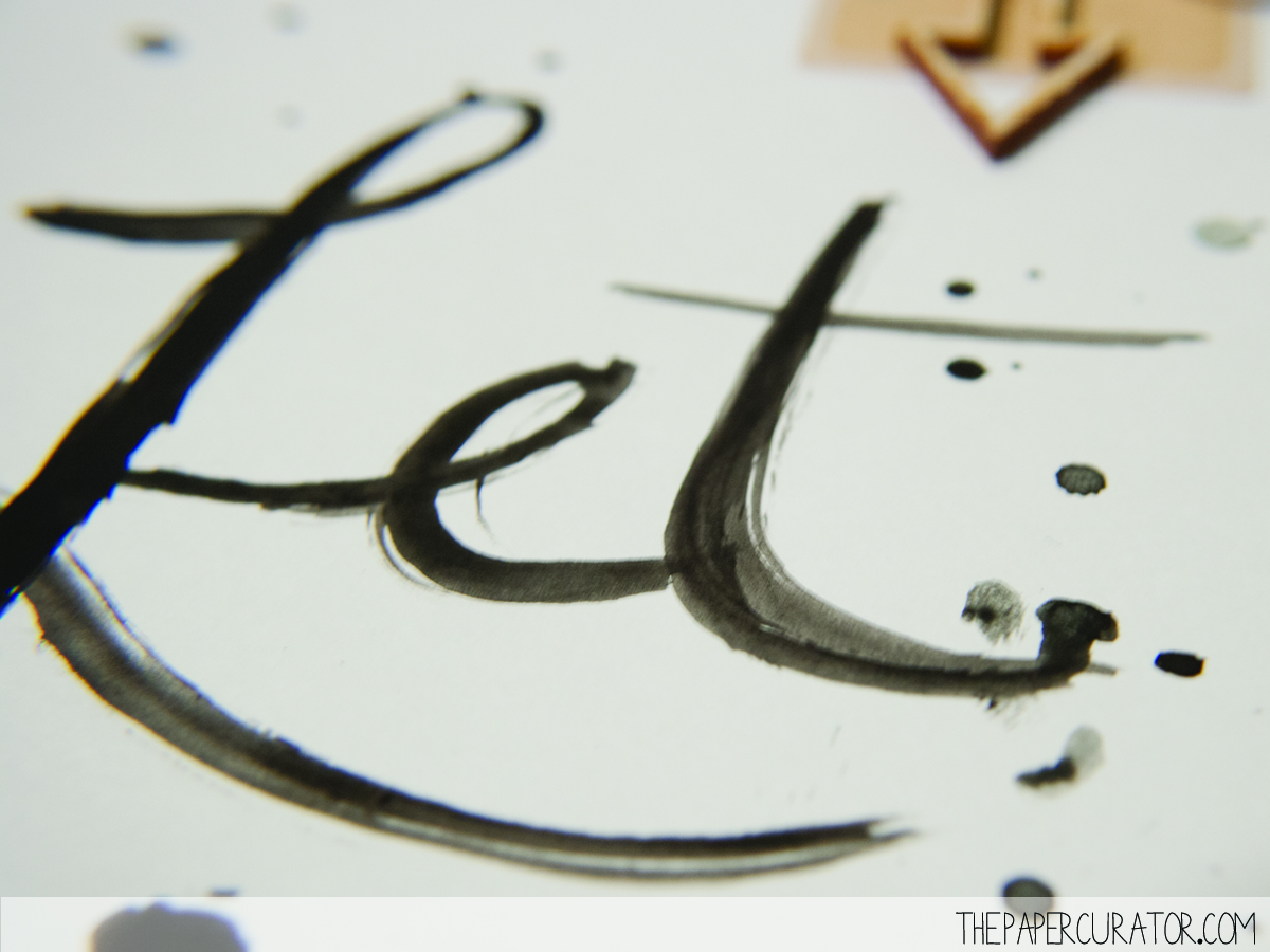 WATERCOLOR TITLE DETAIL ON 'LET US EAT' | SUNDAY SKETCH SERIES ON THE PAPER CURATOR