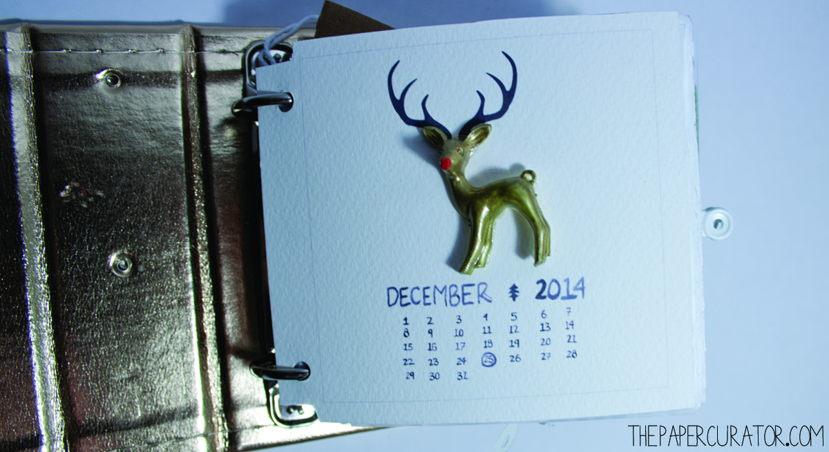 COVER PAGE  25 DAYS OF CHRISTMASMINIALBUM/ DECEMBER DAILY WEEKNO. 1 | THE PAPER CURATOR