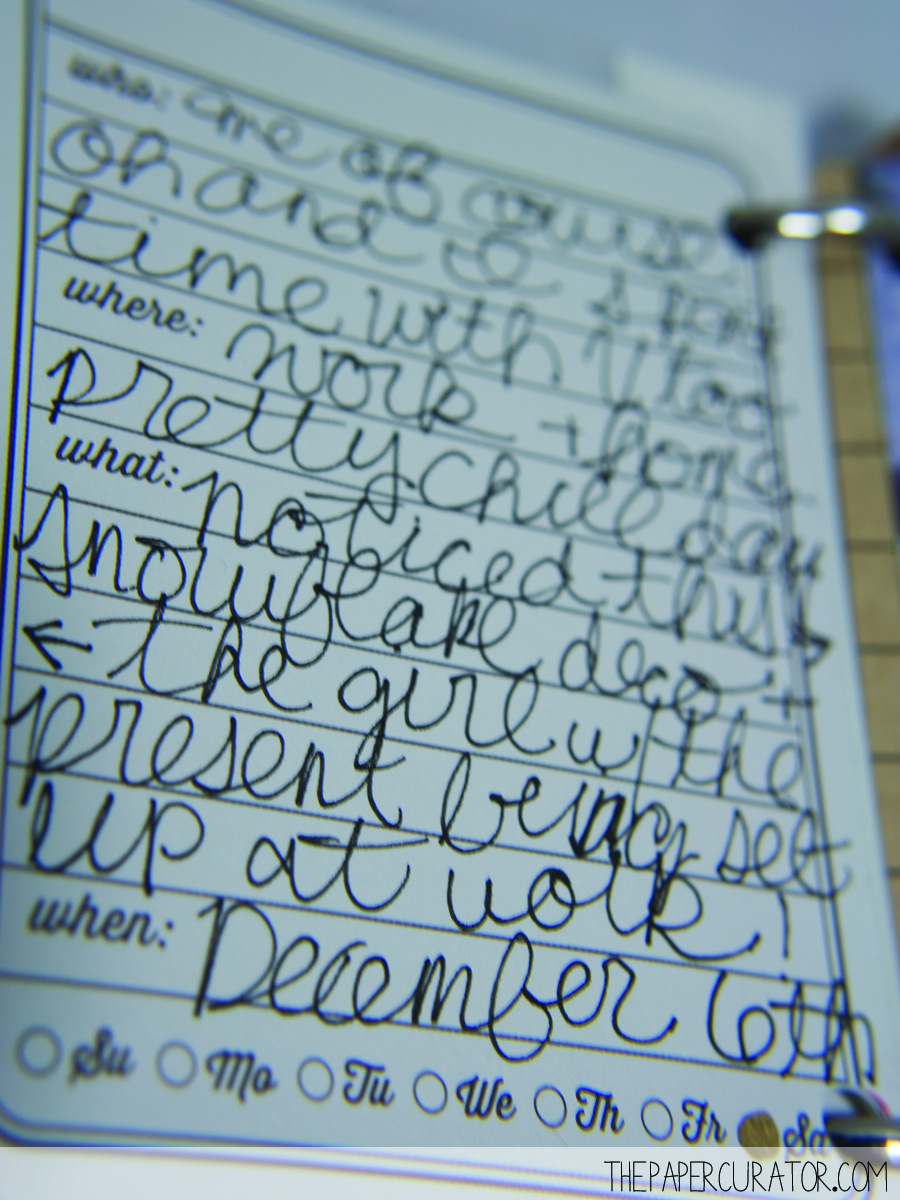 DECEMBER 6TH |  25 DAYS OF CHRISTMASMINIALBUM/ DECEMBER DAILY WEEKNO. 1 | THE PAPER CURATOR