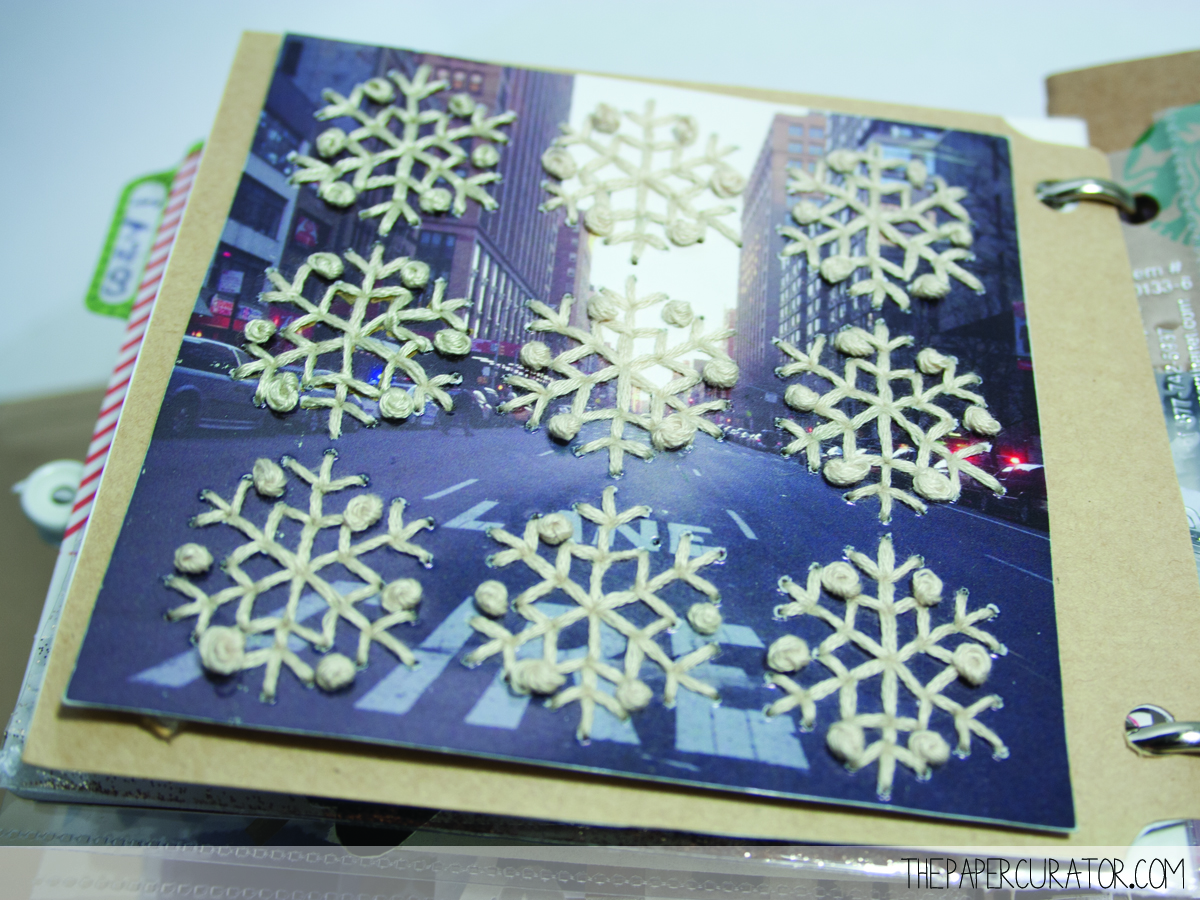 DIY EMBROIDERED SNOWFLAKES ON AN IMAGE | THE PAPER CURATOR