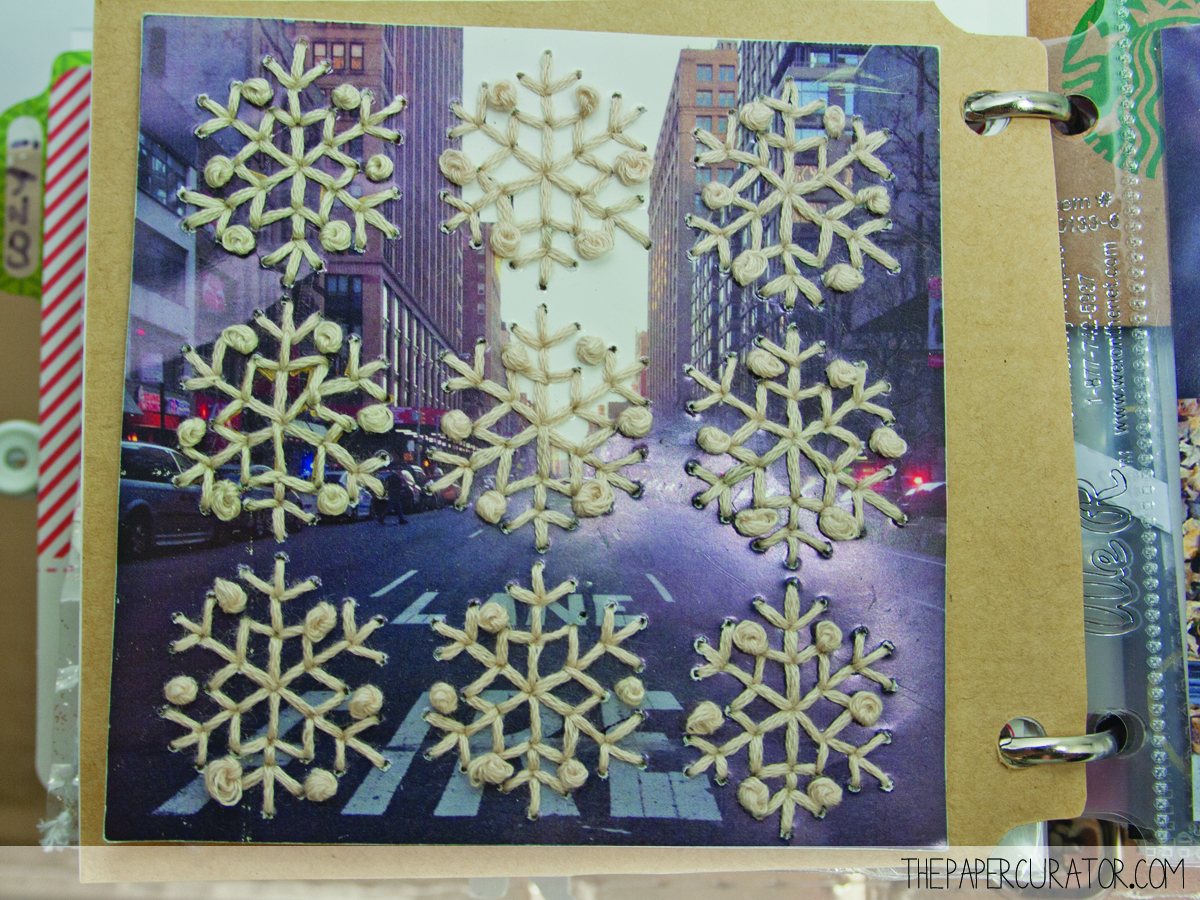 COMPLETED PAGE OF EMBROIDERED SNOWFLAKES | THE PAPER CURATOR.