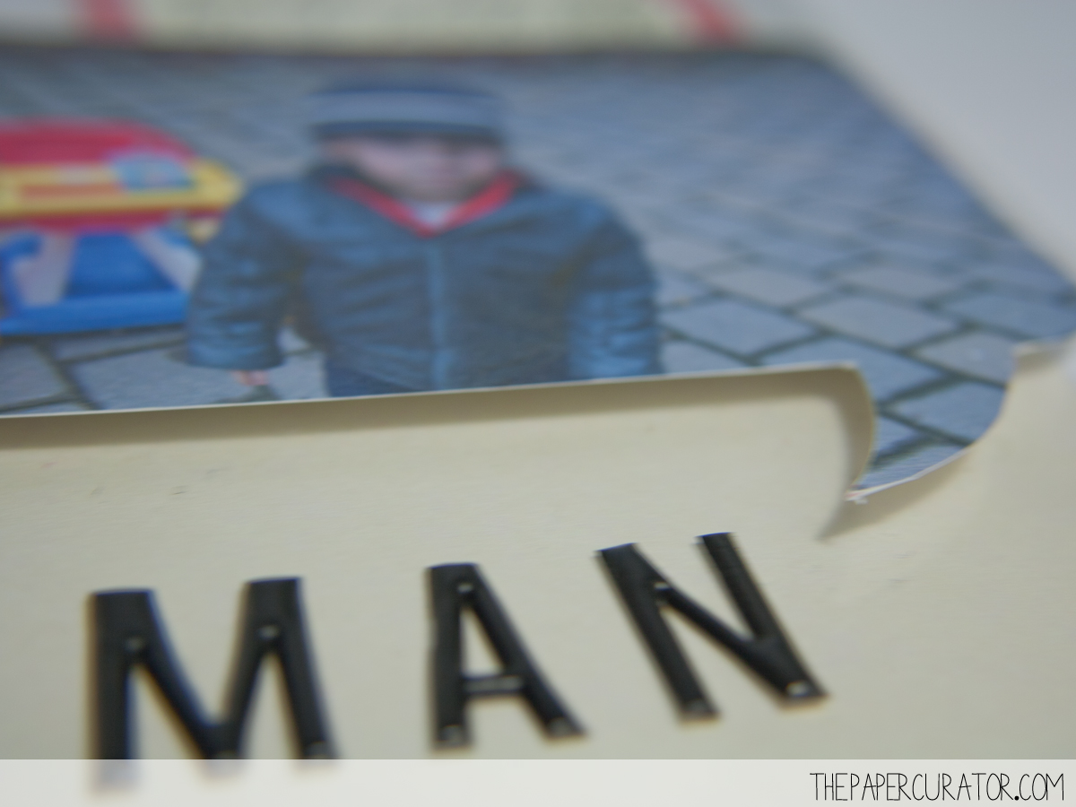 SPEECH BUBBLE DETIAL ON 'BIG MAN' | THE PAPER CURATOR