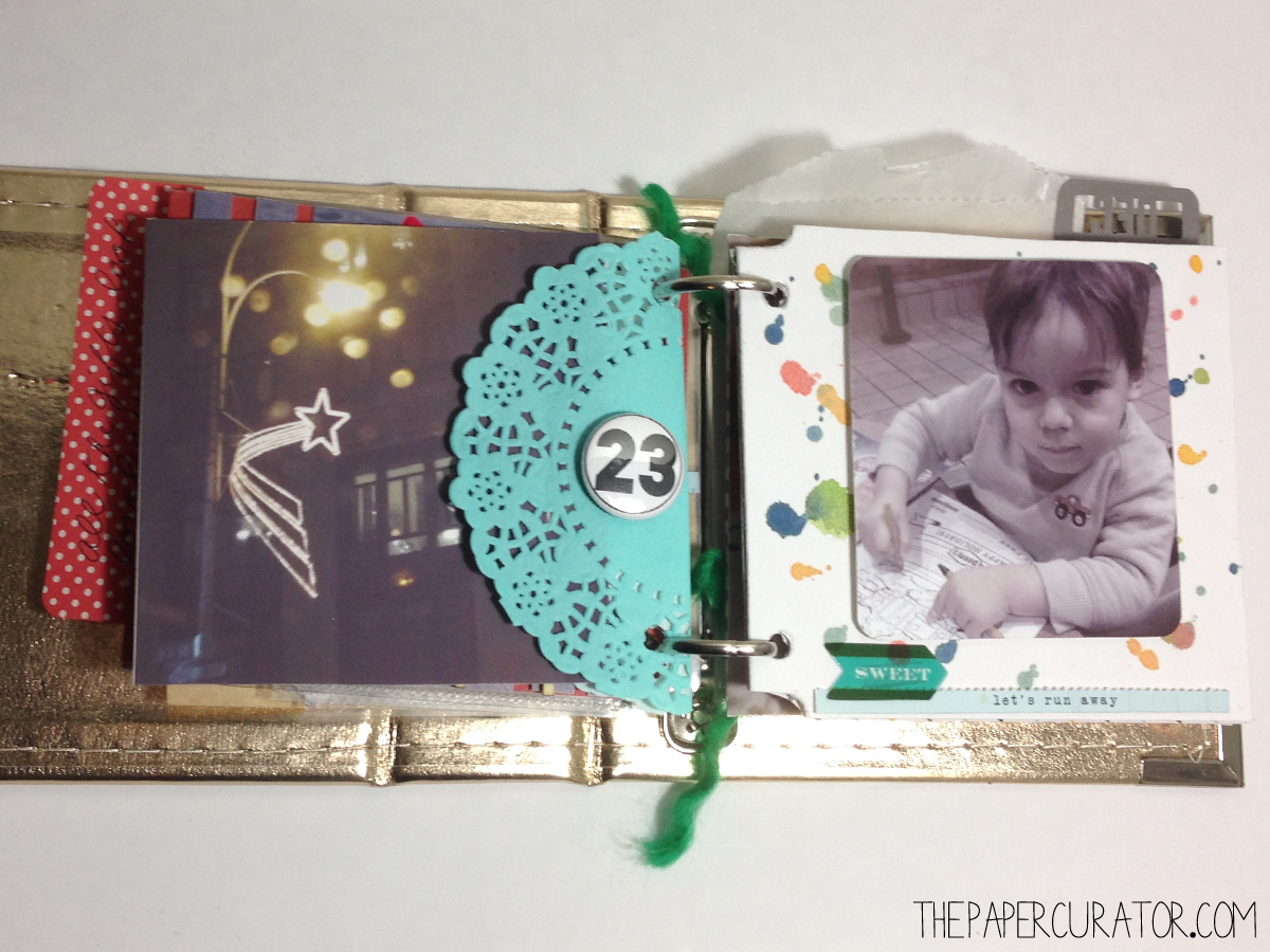 DECEMBER 23RD   |   25 DAYS OF CHRISTMAS MINI ALBUM/ DECEMBER DAILY WEEK NO. 4 | THE PAPER CURATOR