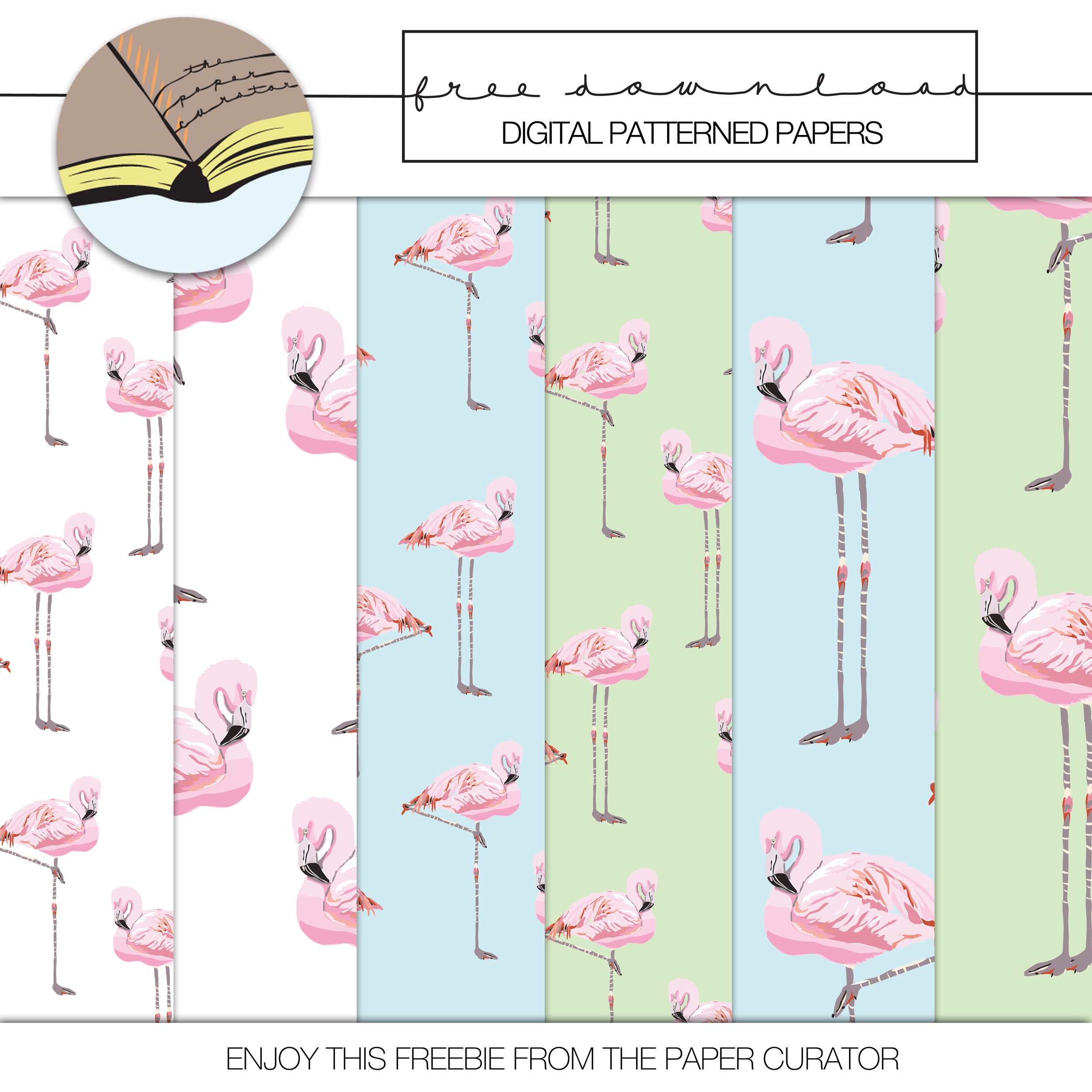 'FLORIDA' LAYOUT + FREE FLAMINGO PATTERN PAPER DOWNLOAD   THE PAPER CURATOR