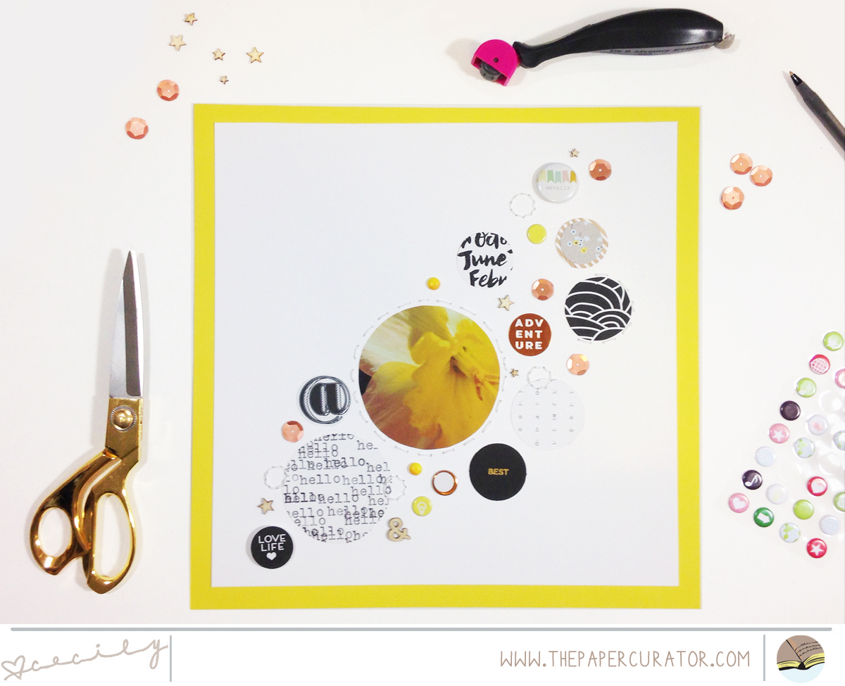 """THIS WEEK'S SKETCH WITH """"ADVENTURE"""" SCRAPBOOK LAYOUT   THE PAPER CURATOR"""