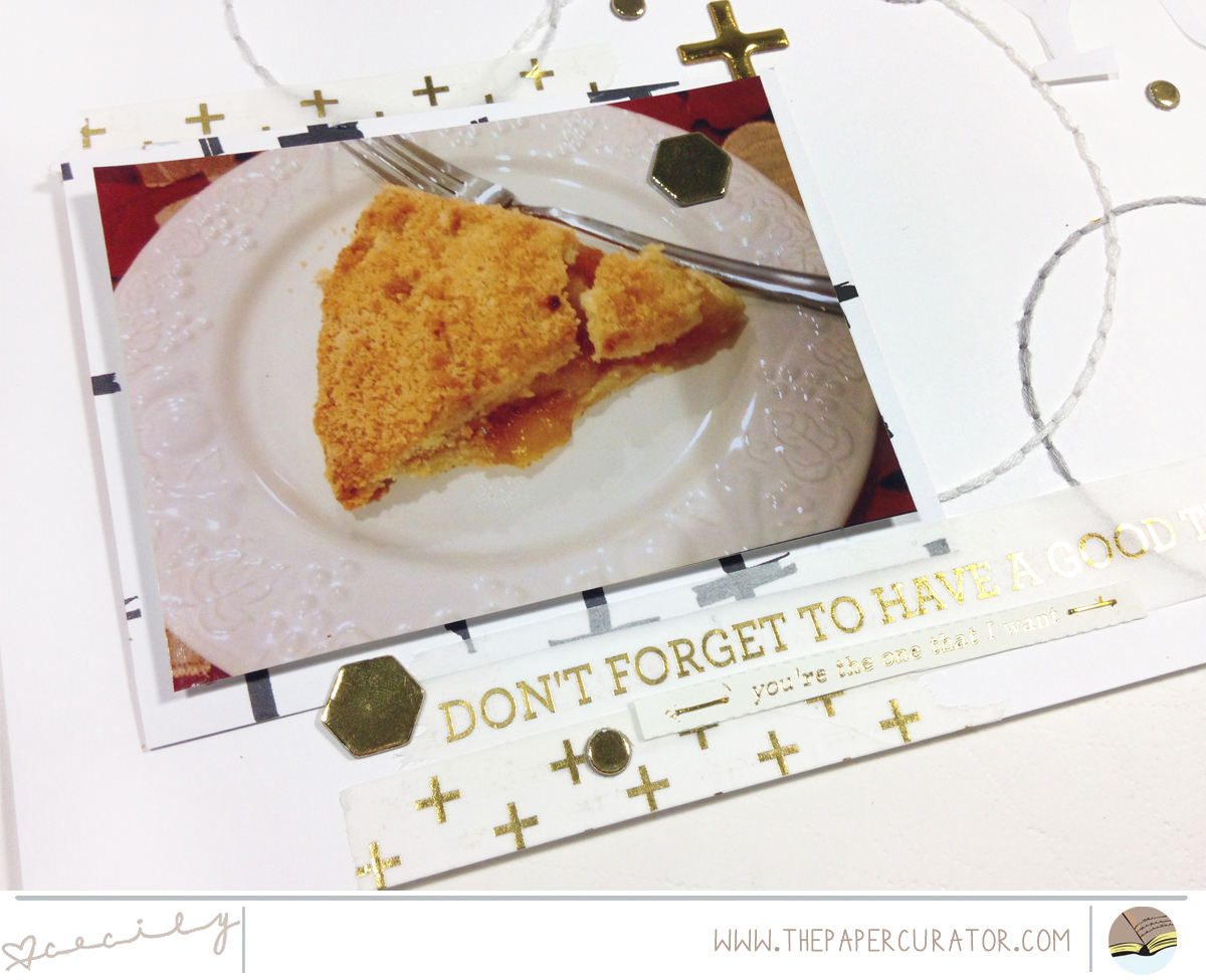 HOW TO PULL OFF AN ALL OVER TITLE ON YOUR SCRAPBOOK LAYOUT | THE PAPER CURATOR