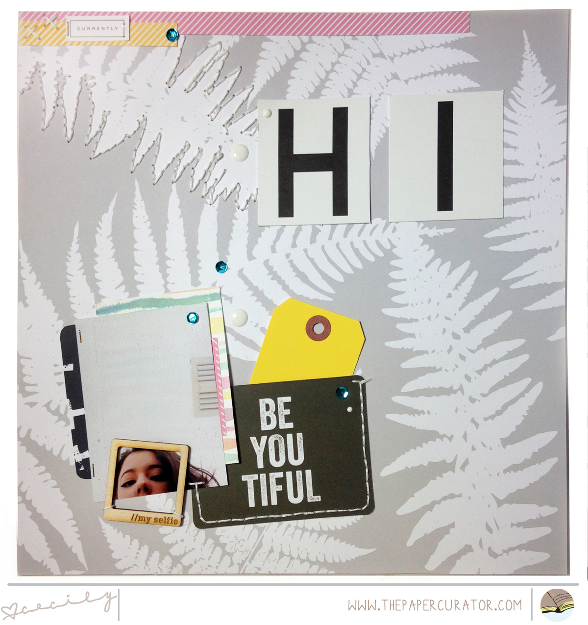 TIME SAVING TIPS WITH 'BE YOUTIFUL' SCRAPBOOK LAYOUT | THE PAPER CURATOR