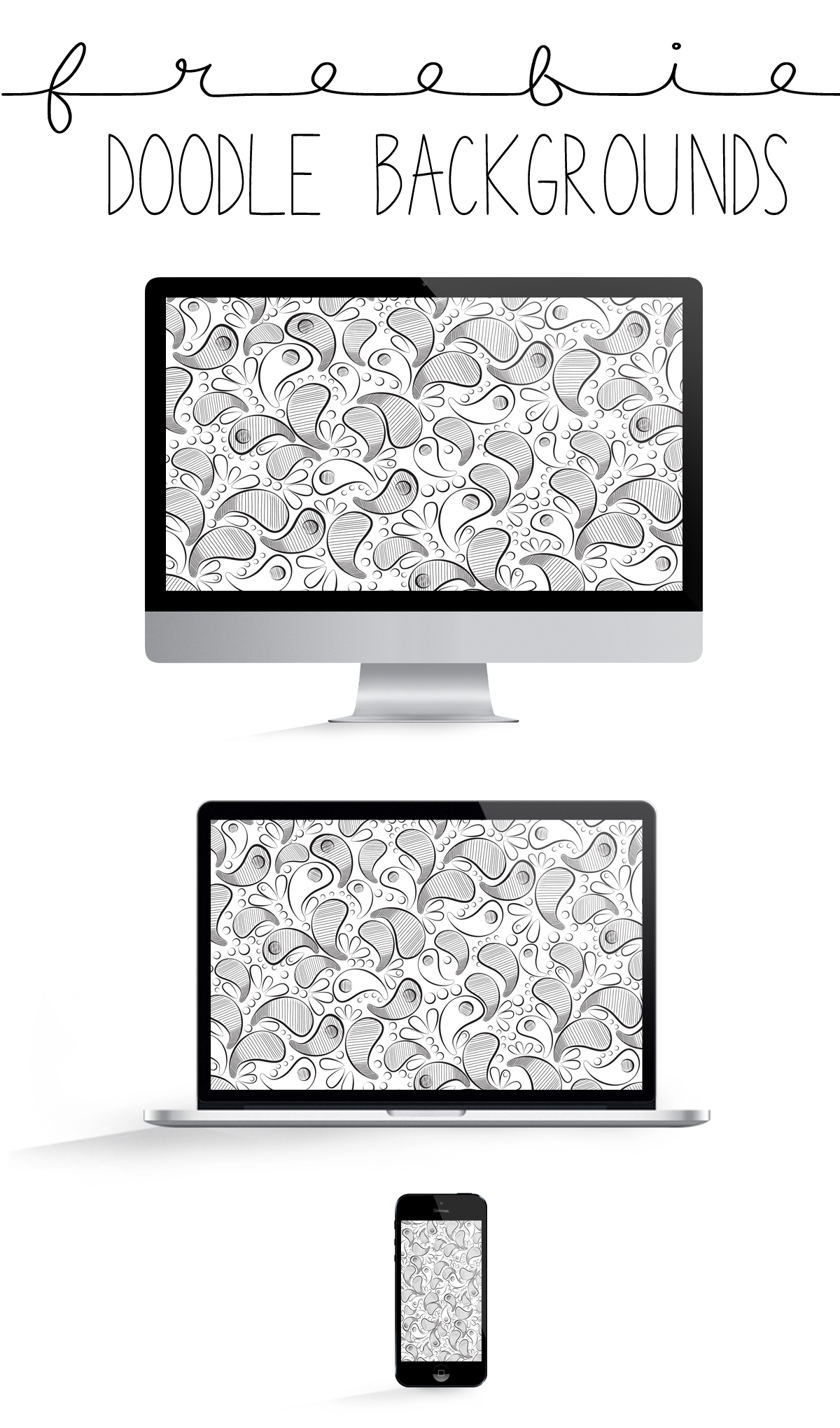FREE DOODLED TECHNOLOGY BACKGROUNDS FOR COMPUTERS, TABLETS, AND IPHONES | THE PAPER CURATOR