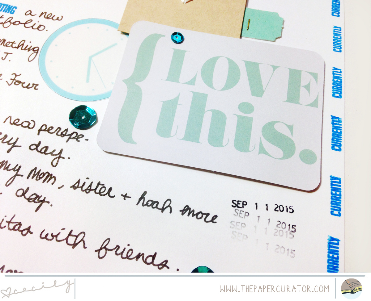 WEEKLY SCRAPBOOK SKETCH WITH 'LOOKING FORWARD' SCRAPBOOK LAYOUT | THE PAPER CURATOR