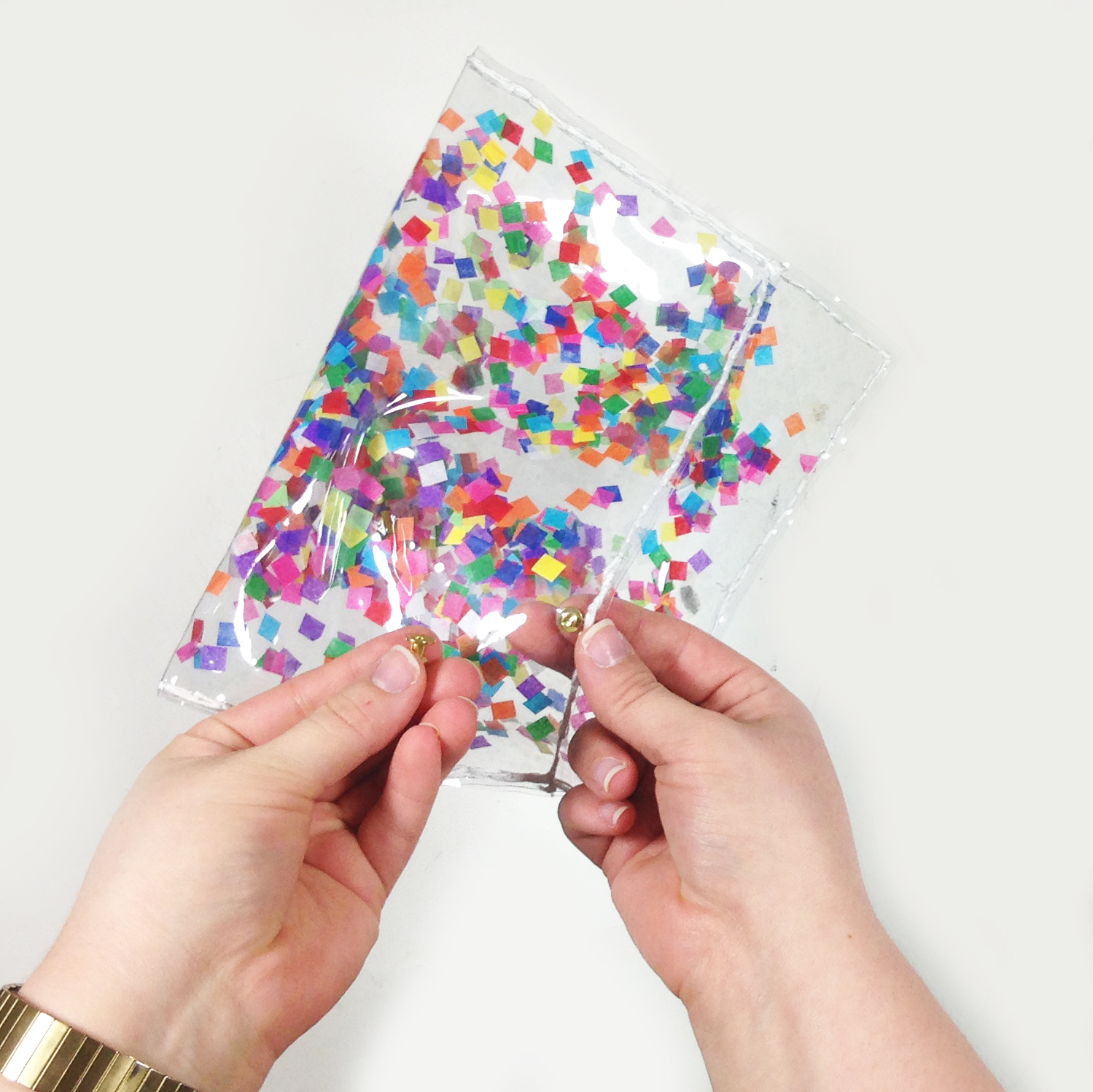 IY CONFETTI PENCIL CASE TUTORIAL | THE PAPER CURATOR