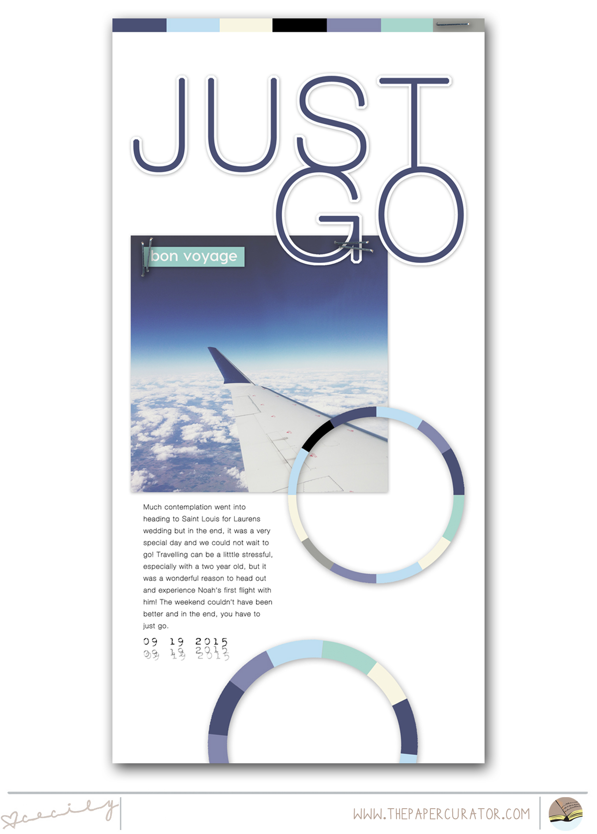 CREATING A BALANCED SCRAPBOOK LAYOUT WITH 'JUST GO' | THE PAPER CURATOR